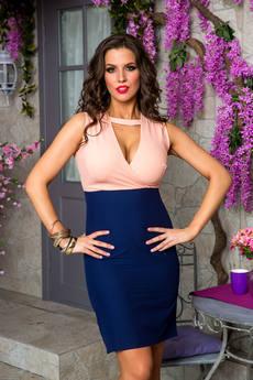 Платье с глубоким вырезом декольте Angela Ricci