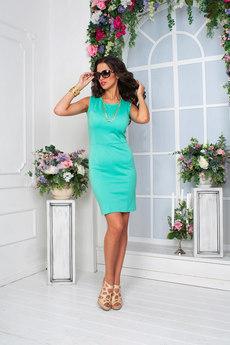 Летнее платье футляр без рукавов Angela Ricci