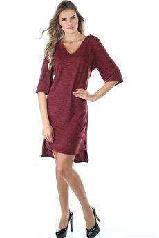 Бордовое повседневное платье Bast со скидкой