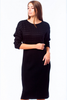 Черное платье с молнией на спине Kvinto