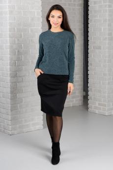 Черная юбка с карманами Шарлиз