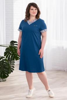 Новинка: синее хлопковое платье Шарлиз