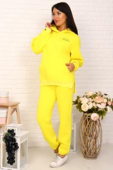 Костюм с начесом желтый Натали