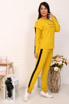 3641 костюм женский горчичный Натали