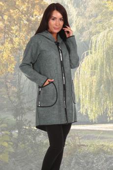 Бургунди пальто зеленый Натали
