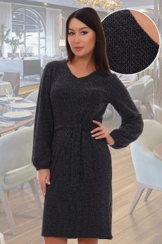 Черное платье с люрексом Натали